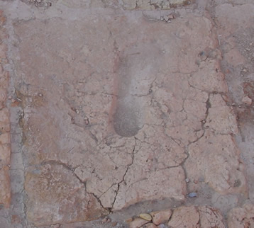 Ancient footprint in the remains at Chogha