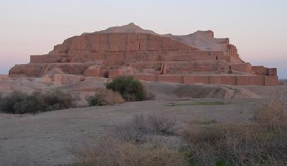 Chogha Zanbil at Sunset