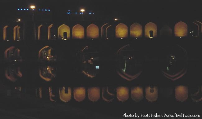 Night View of Esfahan Bridge