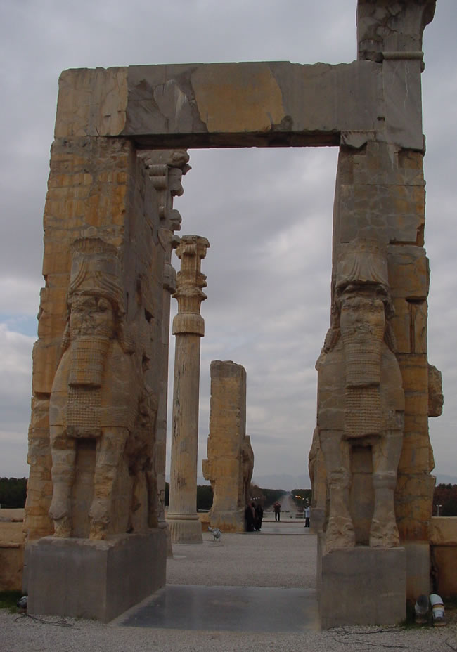 Persepolis Entrance Inside Looking Out Iran Axis Of Evil World Tour