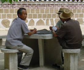 Koryo Museum - old men and cards
